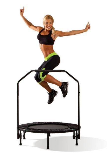 Mini Fitness Trampoline Cardio Gym Trainer Exercise Workout Rebounder Aerobic #Marcy