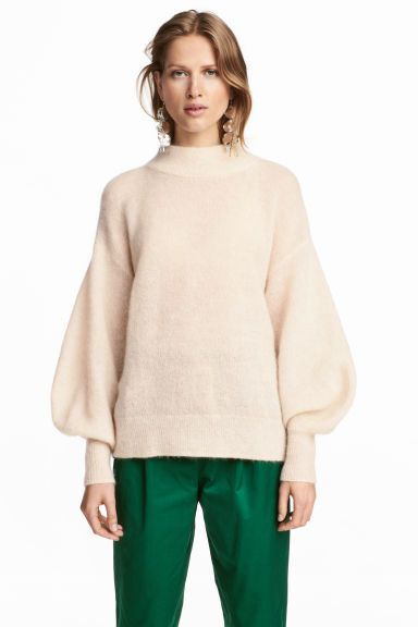 Pullover in misto mohair - Bianco naturale - DONNA | H&M IT