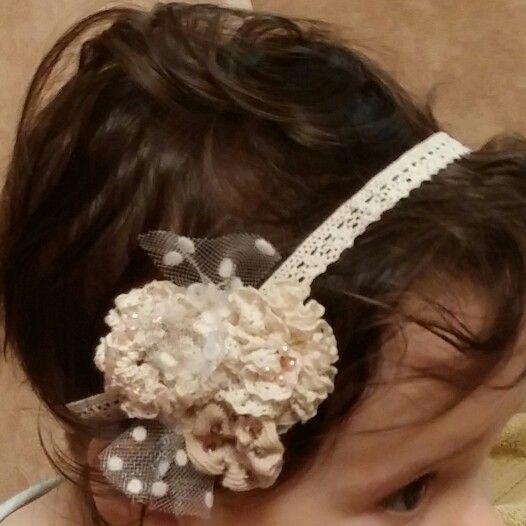 Baby #headband - #vintage #lace