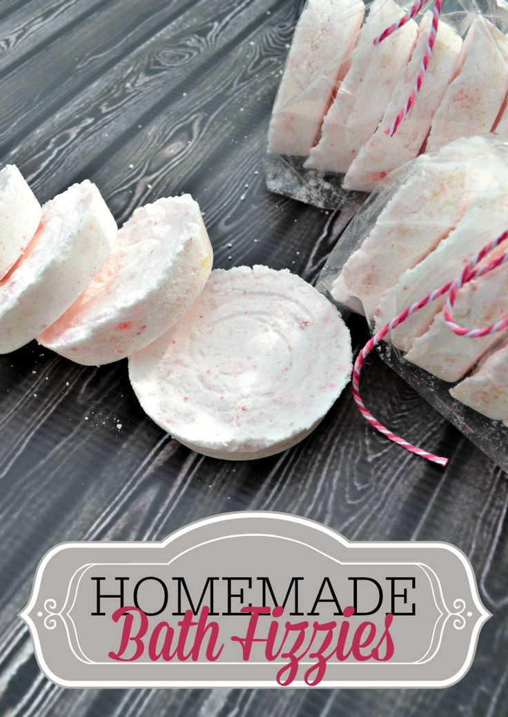 Homemade Bath Fizzies Recipe ... Great Gift Giving Idea for Mother's Day