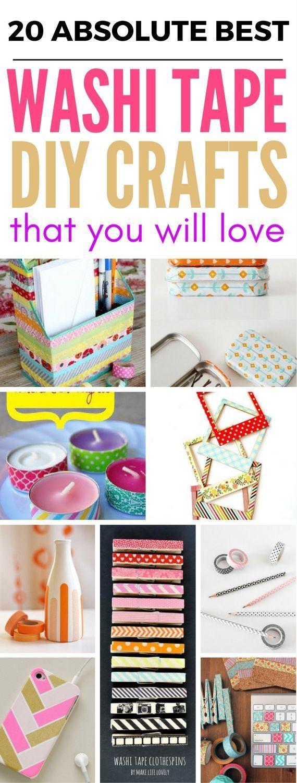 20 Washi Tape-Ideen und Bastelarbeiten, die perfekt für Heimwerker, Schu
