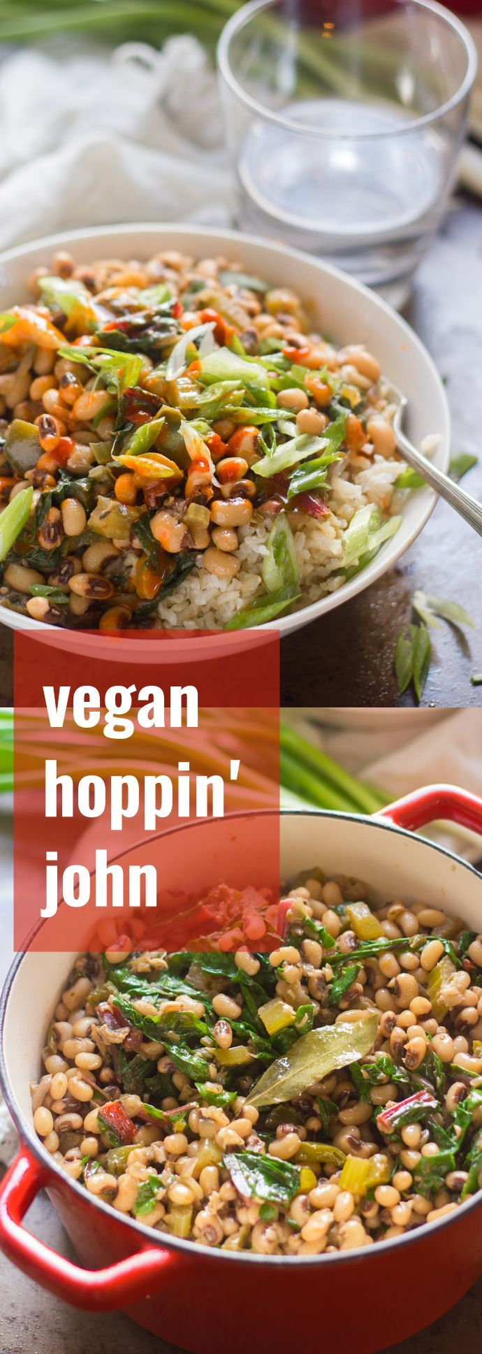 This vegan hoppin' John is made with smoky simmered black-eyed peas, spices and chard. Perfect for New Year's, or pretty much any day of the year!