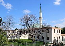 Vienna Islamic Centre, Austria.  It is the largest mosque in Austria.  In 1975 Saudi king Faisal bin Abdulaziz al Saud pledged to finance the construction of the mosque himself.