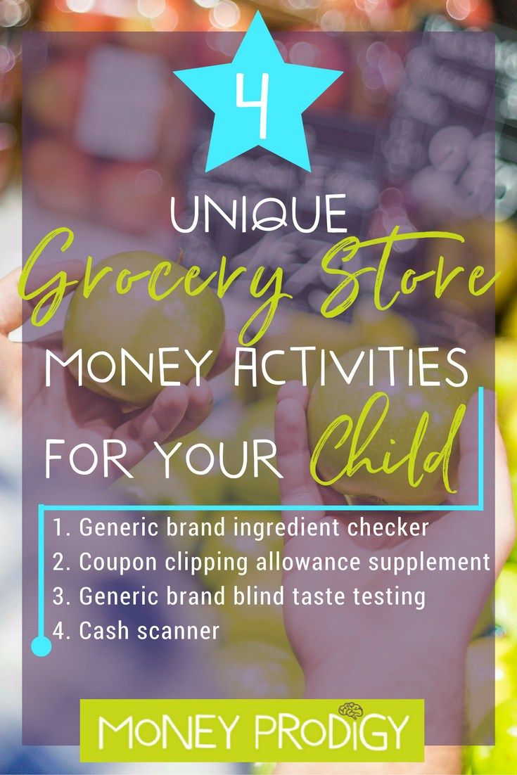 4 Grocery Store Games for kids that don't involve weighing vegetables. Trust me, you'll WANT your child to learn these money lessons! | http://www.moneyprodigy.com/4-unique-grocery-store-games-kids/