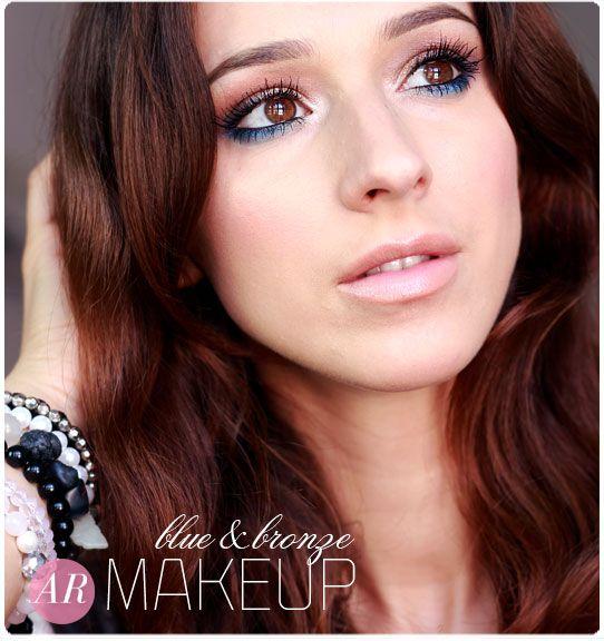 Alina Rose Makeup Blog: Makijaż na lato: kolorowa dolna powieka+ brąz.