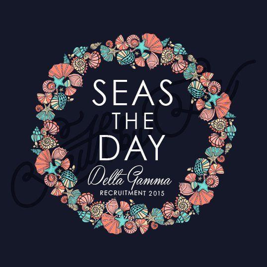 Sorority Recruitment Delta Gamma Sea Shell Starfish Wreath Ocean South By Sea