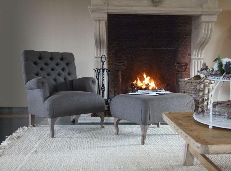 Chair. Living room. Grey.