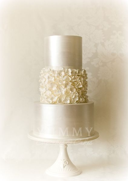 White Hydrangea.  It is a very versatile cake style, it can easily blend into almost any wedding style.