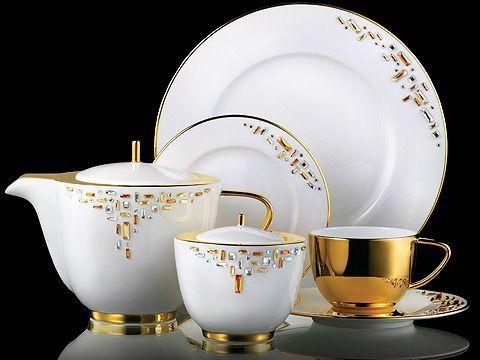 Diana Gold | ProunaUSA Fine China Luxury Dinnerware Swarovski® crystal & 108 best crystal u0026 porcelain images on Pinterest | Dishes Dinner ...