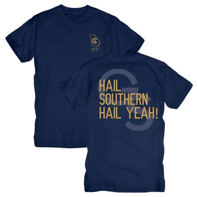 Cole Swindell Navy Tee with Georgia Southern, State, and Cole Swindell Logo