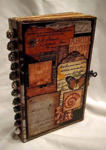 journal - hand made - vintage look - beach themed