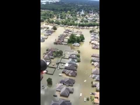 Baton Rouge LA Flood 2016 - Chopper View