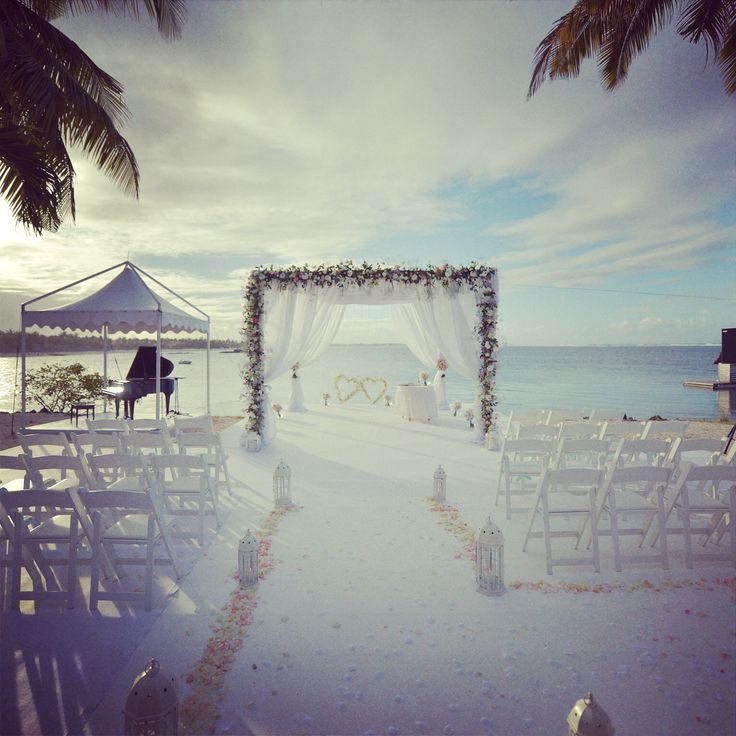 My wedding which I organized  At Long Beach Mauritius