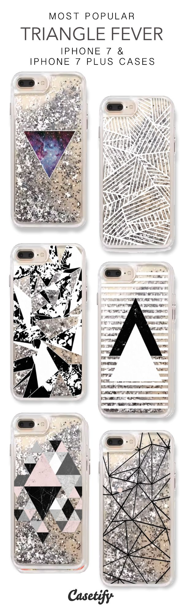 Most Popular Triangle Fever iPhone 7 Cases & iPhone 7 Plus Cases. More geometric iPhone case here > https://www.casetify.com/en_US/collections/iphone-7-glitter-cases#/?vc=f1MpDB1LOv
