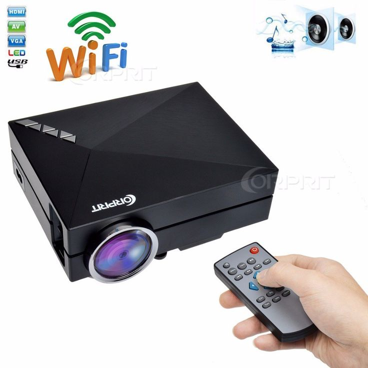 WIFI Home Theater HDMI USB LCD Video 1000Lemens Portable Mini 1080p HD 3D LED Projector //Price: $90.99 & FREE Shipping //     #discount