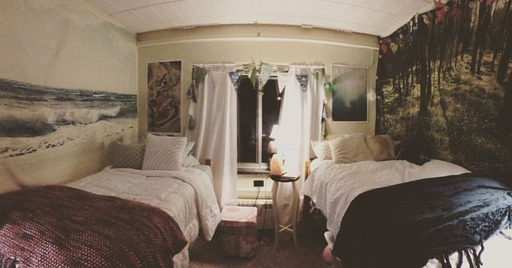 beach/forest getaway in our almost symmetrical dorm room