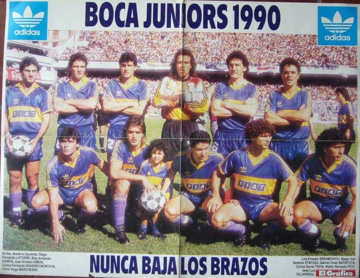 "Club Atlético Boca Juniors, Póster de la Revista ""El Gráfico"" 1990.: Atlético Boca, Costumbres Argentinas, Vintage Football, Magazine, Of The, Boca Juniors, Athletic Club"