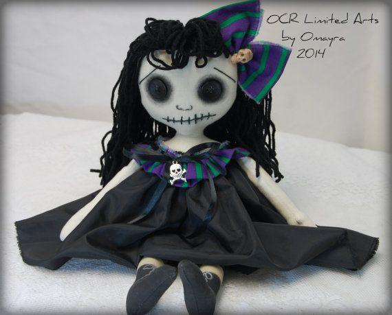 LOTUS Tattered Goth primitive folk art spooky by OCRLimitedArts, $65.00