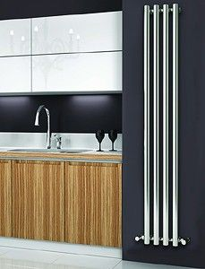 reina radiators > oria vertical radiator (chrome).270x1800mm. - taps4less.com - #radiator #bathroom