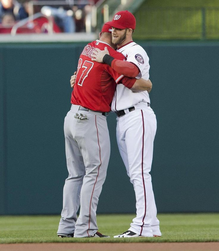 Mike Trout and Bryce Harper. Love this picture