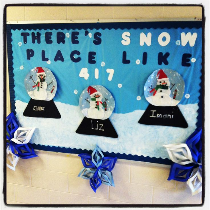 Our winter bulletin board :) special Ed setting, residential school for students with autism❄⛄❄