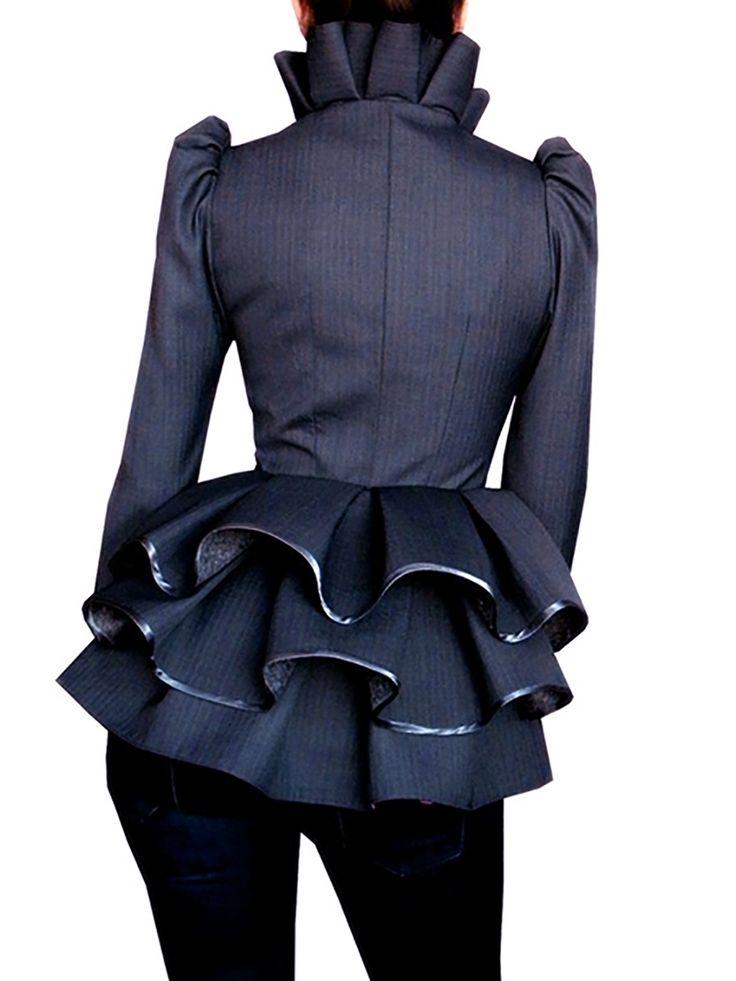 Falbala Tiered Two Buttons Women's Blazer #Fashion #Blazers #Women'sFashion