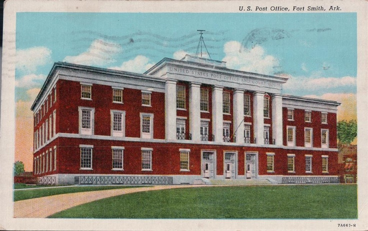 Vintage Postcard US Post Office Fort Smith Arkansas s s News Agency AR | eBay