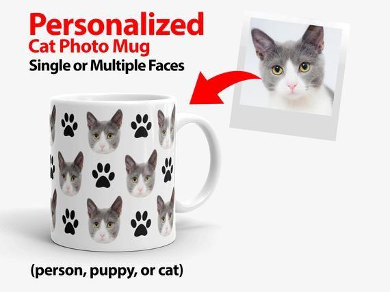 Glass Mug Face Cup Cat Joke Gift //  Present Animal