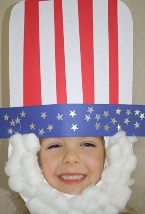 Uncle Sam Mask for Memorial or Independence Day