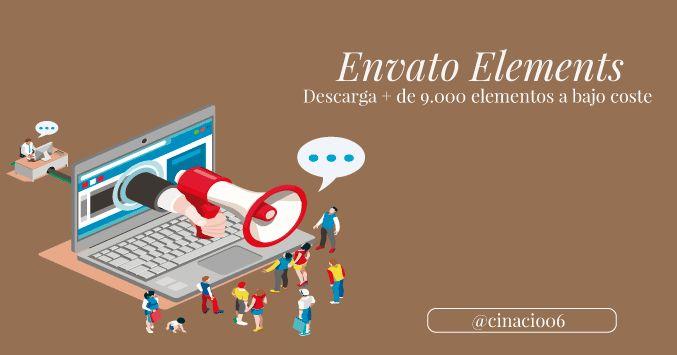 Con Envato Elements podrás hacer descargas ilimitadas (+ 9000) de plantillas web, curriculum, power point, iconos, vectores y más a bajo coste