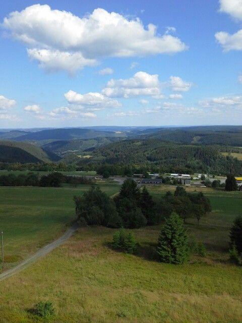 Uitzicht over Thüringen