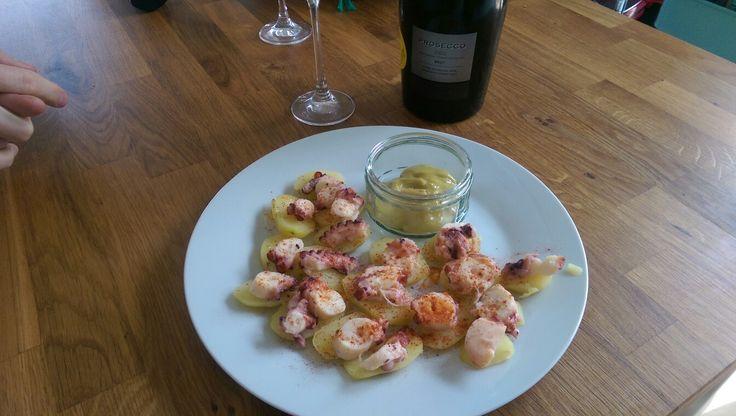 Pulpo a la gallega Octopus with allioli Recipe Food