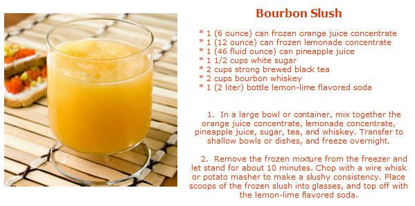 Bourbon Slush #MardiGras #Cocktail #Alcohol #BourbonSlush