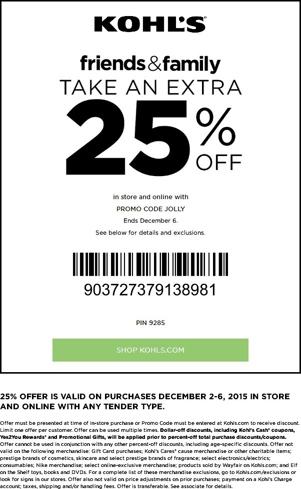 Coupon code for kohls