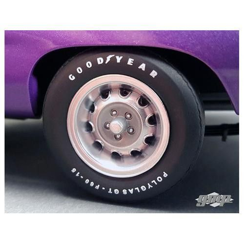 1970 Plymouth Road Runner Rally Wheels and Tires Set of 4 Pack 1/18 by GMP