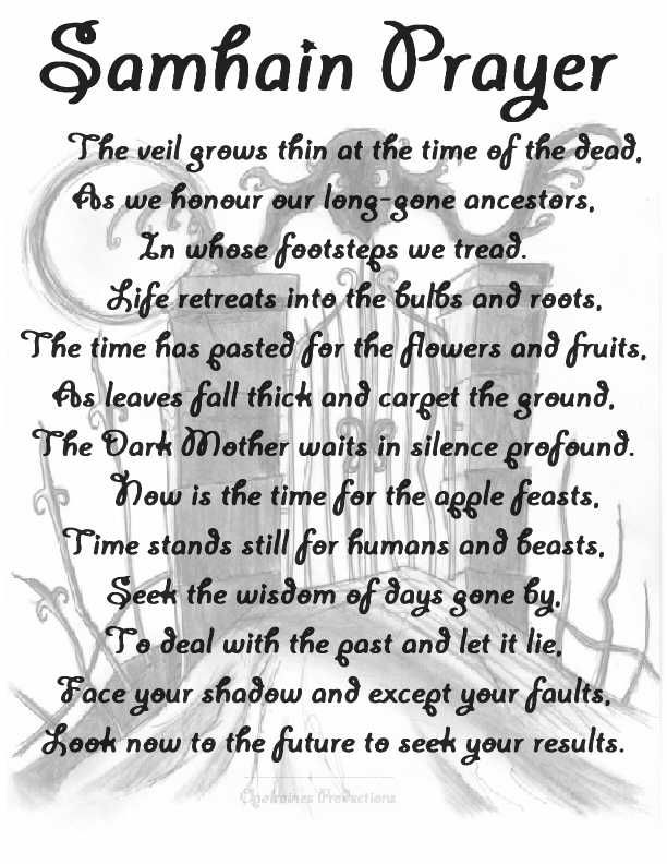 Samhain Prayer words from another but MY OPALRAINES PRODUCTION.