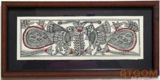 Buy paintings - Peacock Madhubani Paintings , Madhubani Paintings in Atgom Arts