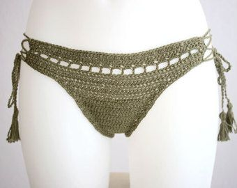 Bikini bottom with side tide Triangle bikini bottom by MarryG