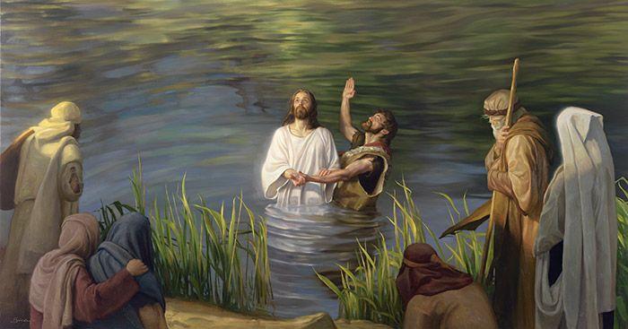Pintura do Batismo de Jesus Cristo: