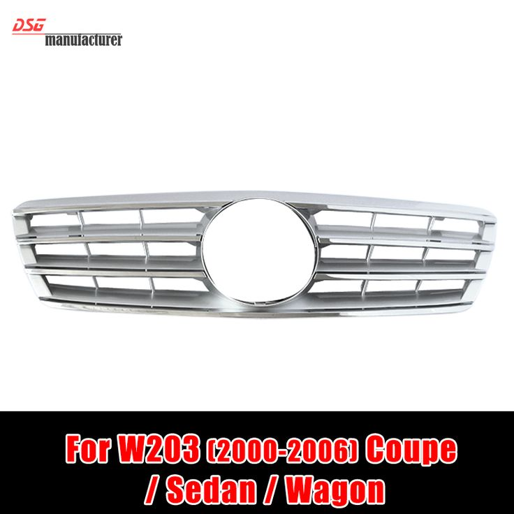 Mercedes C class w203 2 fin front kidney grill grille mesh for benz 2000 2006 C240 coupe sedan wagon model