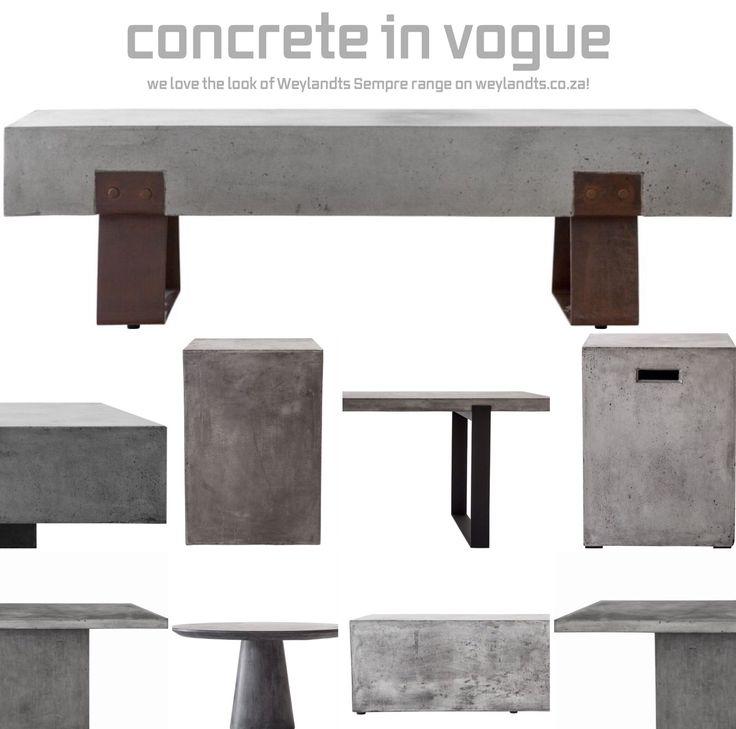 We love the look of the Weylandts Sempre range - simple, elegant and functional! #concrete #inspiration #style #interiordesign