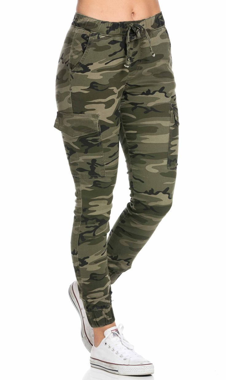 Drawstring Camouflage Cargo Jogger Pants Plus Sizes Available Ropa De Camuflaje Ropa Camuflada Ropa Nike Mujer