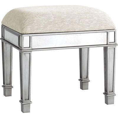 Hayworth Silver Vanity Bench