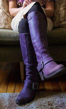 John Fluevog Fleuvog Tall 6 Size 6 Purple Boots