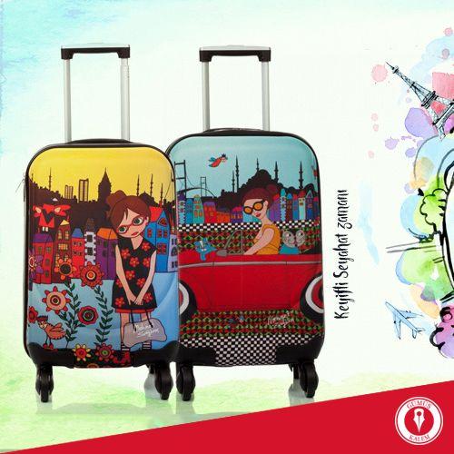 Gümüş Kalem' in mutlu tatilcileri, birbirinden eğlenceli tasarımlarıyla bavullarınız sizi bekliyor! Çeşitler için lütfen tıklayın: http://bit.ly/1U9cCgK www.gumuskalem.com.tr