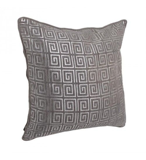 FABRIC CUSHION COVER IN PINK _BROWN 45X45