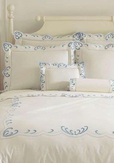 WAVES From sea to shining sea our waves are embroidered on Egyptian cotton assuring a restful sleep to one and all.