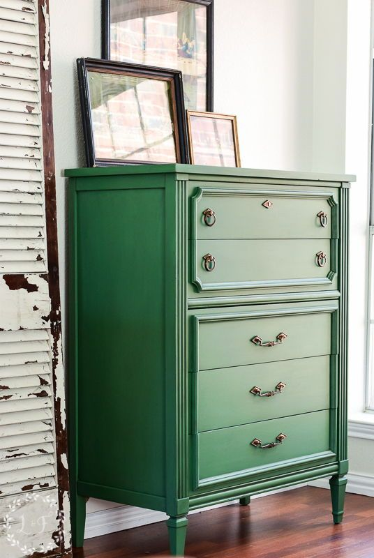 Italian Provincial Chest Makeover Fusion Mineral Paint Park Bench   – Lost & Found Blog and Creations