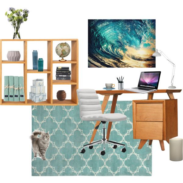 """Tasteful Home Office"" by shellytot on Polyvore"