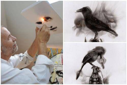 Steven Spazuk: l'artista che dipinge con il fuoco [VIDEO]